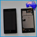 Nokia Lumia 520 LCD and Touch Screen Assembly with Frame [Black]